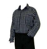 Flanelová košile černo/šedá - velikost 38