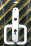 Klika plastová dveřní 72 FAB STANDARD bílá