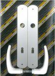 Klika plastová dveřní KLASIK 90 dozická XXL bílá