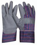Pracovní rukavice GREY VINYL umělá kůže velikost 10,5 - blistr