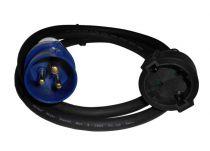 PSSO kabel s redukcí CES25, 250 V, 16 A, 3x2,5 mm2, 1,5 m