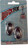 QUICKFIX háček samolepicí typ 1  - 2s - stříbrný