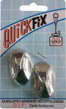 QUICKFIX háček samolepicí typ 2  - 2ks - stříbrný