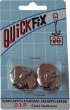 QUICKFIX háček samolepicí typ 6  - 2ks - stříbrný