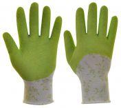 Zahradní rukavice s latexovou vrstvou FLOWER GREEN  velikost 8 …