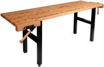 Pracovní stůl-hoblice 2150x600x850mm se dvěma svěráky