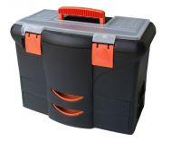 """Plastový kufr 18"""" 450x360x260mm s 2x zásuvkou"""