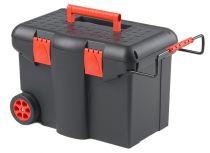 Plastový pojízdný kufr, tažná rukojeť 580x380x400mm