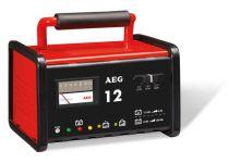 Nabíječka autobaterií kovová AEG SA-97009 - 12A, 6-12V, 2-130Ah