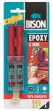 Čiré dvousložkové epoxidové lepidlo Bison Epoxy 5 Minutes 24 ml set