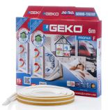 GEKO - Těsnění do oken bílé samolepící molitan F-profil 2x3m