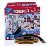 GEKO - Těsnění do oken hnědé samolepící molitan F-profil 2x3m
