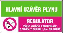 Hlavní uzávěr plynu-Regulátor-Zákaz kouření a manipulace s…