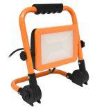 LED reflektor s podstavcem, 30W, 4000K, 2100lm, IP44, oranžová