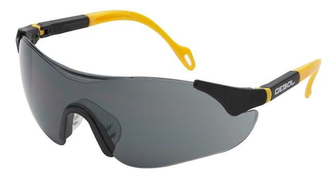 Ochranné brýle SAFETY COMFORT - tmavé Gebol
