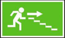 Panáček se směrem vpravo po schodišti dolů - plastová tabulka…
