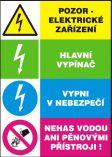 Pozor elektrické zařízení-Hlavní vypínač-Vypni v nebezpečí…