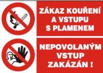Zákaz kouření a vstupu s plamenem - Nepovolaným vstup zakázán -…