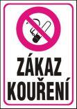 Zákaz kouření - samolepka A4
