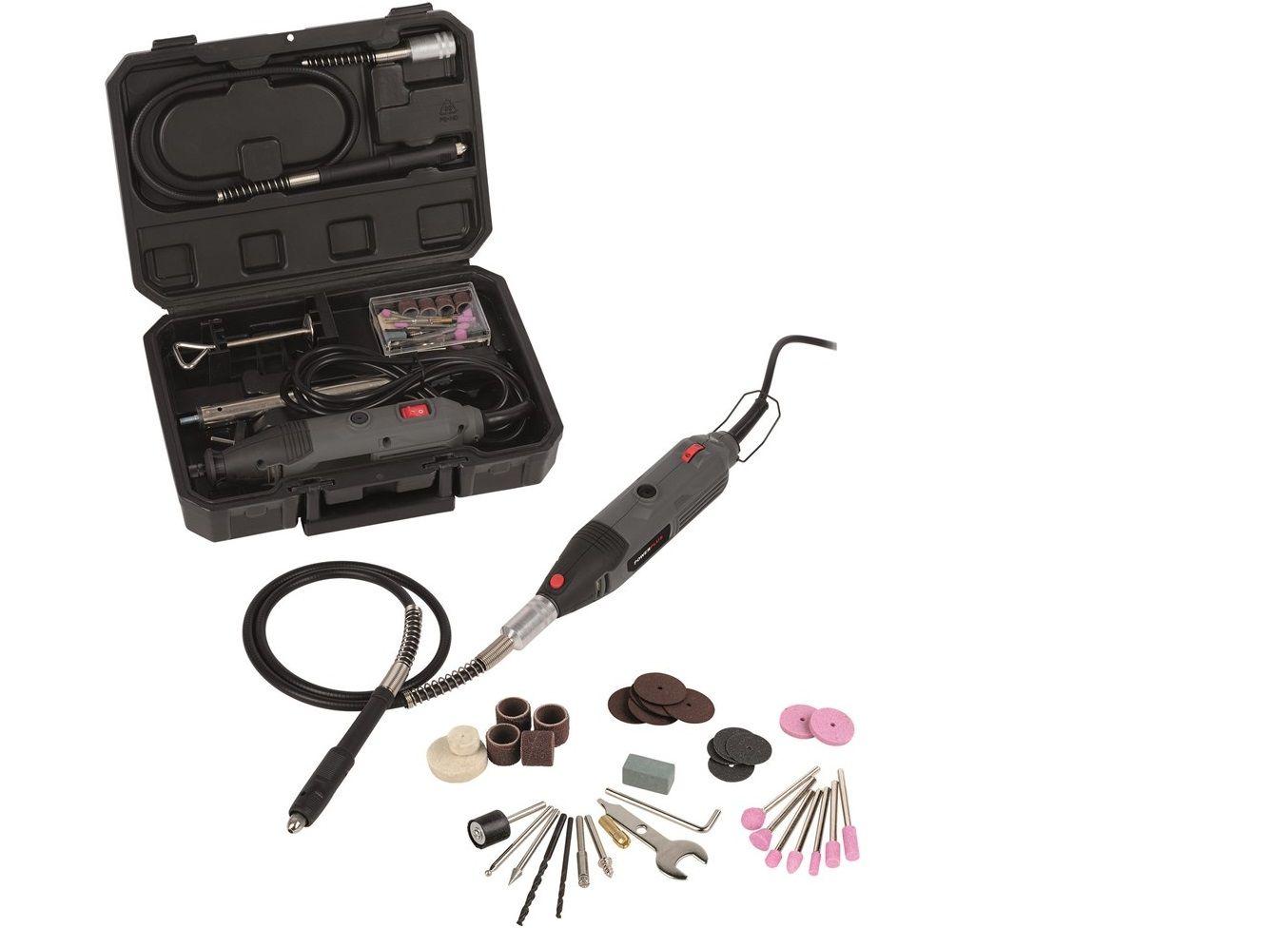 Přímá bruska s příslušenstvím PowerPlus POWE80060 - 135W, 8.000-32.500, 40ks brusných nástavců, v kufru PowerPlus (VARO)
