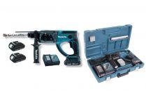 Kombi aku kladivo Makita DHR202SYE - 2x 18V/1.5Ah, 2J, 3.2kg, SDS-Plus, kufr