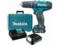 Makita HP331DSAE - 2x 10.8V/2.0Ah, 30Nm, 1.1kg, kufr, aku vrtačka s příklepem