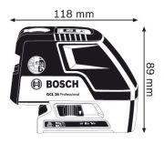 Bosch GCL 25 Professional + stavební stativ BS 150 (0601066B01) Bosch PROFI