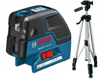 Kombinovaný křížový a pětibodový laser Bosch GCL 25 Professional + Stativ BS 150, Profi křížový laser