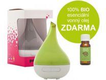 Ultrasonický aroma difuzér Palladinum ZELENÝ + 100% BIO esenciální vonný olej ZDARMA