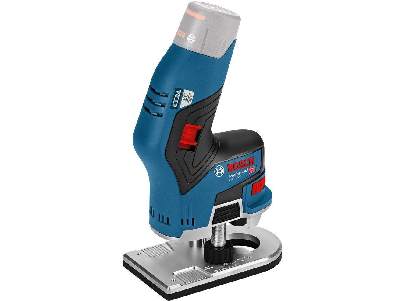 Aku ohraňovací frézka Bosch GKF 12V-8 Professional - 12V, 1.1kg, bez akumulátoru a nabíječky (06016B0002) Bosch PROFI