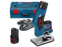 Aku ohraňovací frézka Bosch GKF 12V-8 Professional - 2x 12V/3.0Ah, 1.1kg, kufr