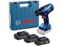 Bosch GSR 180-LI Professional - 3x 18V/1.5Ah, 54Nm, kufr, aku vrtačka bez příklepu
