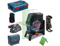 Křížový laser Bosch GCL 2-50 CG Professional - 1x 12V/2.0Ah + RM 2 + stropní držák, kufr L-Boxx
