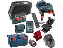 Bosch GCL 2-50 C Professional + RM 3 + BM 3 + RC 2 + kufr L-Boxx, křížový laser s Bluetooth