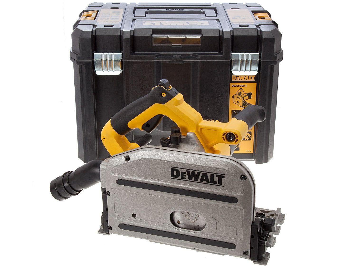 Ponorná kotoučová pila DeWalt DWS520KT - 1300W, 165mm, 5.6kg, pilový kotouč, v kufru (DWS520KT-QS)