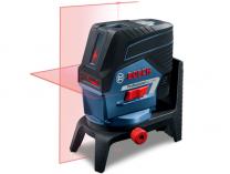 Křížový laser Bosch GCL 2-50 C Professional + 2x aku 12V/2.0Ah + kufr L-BOXX 238 + příslušenství