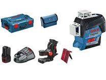 Křížový laser Bosch GLL 3-80 C Professional - 1x 12V/2.0Ah + držák BM 1, kufr
