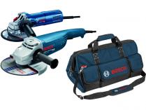 Set úhlových brusek Bosch GWS 24-230 JH Professional + Bosch GWS 9-125 S Professional + taška