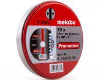 Řezný kotouč Metabo Promotion 125 x 1,0 x 22,23 na železo, kov a nerez