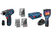 Sada aku nářadí Bosch GTC 400 C + GSR 12V-15 Professional + 39-dílná sada příslušenství + kufry