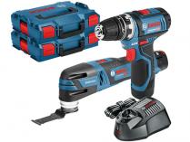Sada aku nářadí Bosch GSR 12V-15 FC + GOP 12V-28 Professional + 2x 12V/3.0Ah + kufr