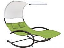 Vivere Double Chaise Rocker - zahradní houpací postel Green Appl, 190x142x178cm, 37.5kg