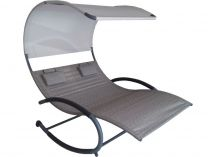 Vivere Double Chaise Rocker - zahradní houpací postel Sienna, 190x142x178cm, 37.5kg