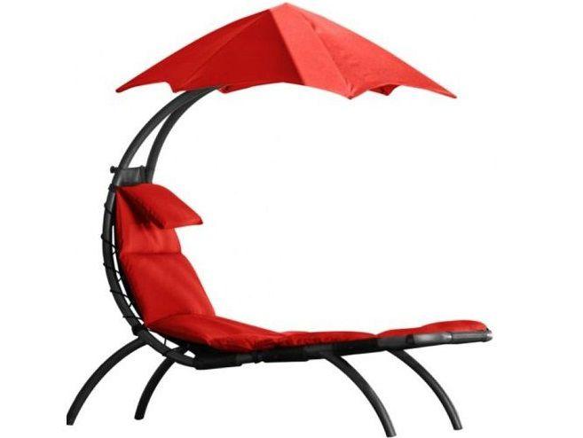 Zahradní pohovka Vivere Original Dream Lounger - Cherry Red, 178x76cm, nos.:120kg, ocelová konstrukce, 21kg (421213)