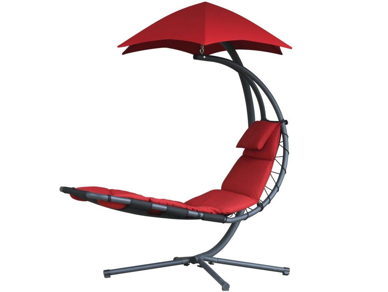 Závěsné houpací lehátko Vivere Original Dream Chair - Cherry Red, 188x76cm, nos.:120kg, ocelová konstrukce, 39kg (421113)