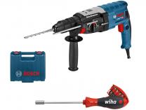 Vrtací a sekací kladivo Bosch GBH 2-28 F Professional - SDS-Plus, 880W, 3.2J, 3.1kg, kufr + dárek