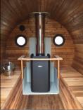 Estonská venkovní SUDOVÁ SAUNA 330 Thermowood - délka 330cm, Ø205cm, 960kg (134251-H) Hanscraft