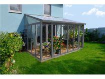 Hliníková zimní zahrada Palram Torino 3 x 4,25 - 295x425x285-310cm, 250kg, šedá