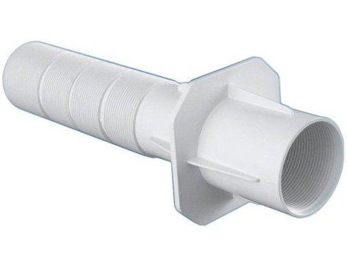 """Bazénový průchod stěnou 2"""" - 240mm - 2"""" výpusť, 50mm trubka, 63mm vnější ⌀, bílý ABS plast, 0.35kg (308240) Hanscraft"""