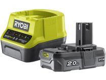 Sada Ryobi RC18120-120: 1x aku 18V/2.0Ah Li-Ion + nabíječka Ryobi RC18120
